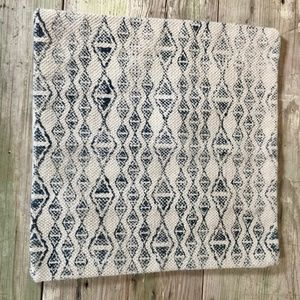 Hand Stamped Pillow Cover Sham upholstery navy geo